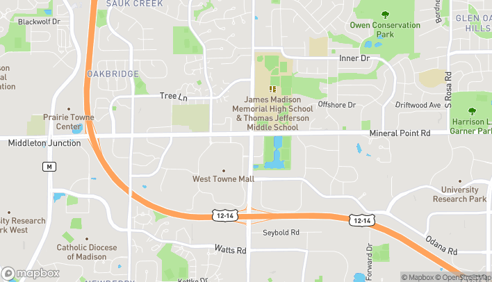 Map of 406 S Gammon Rd in Madison