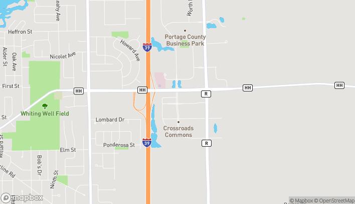 Mapa de 180 Crossroads Dr en Plover