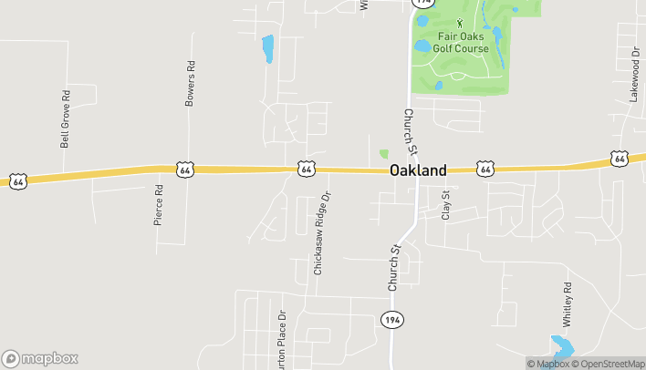 Map of 200 Chickasaw Ridge Dr in Oakland