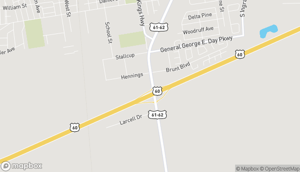 Map of 1313 South Main Street in Sikeston