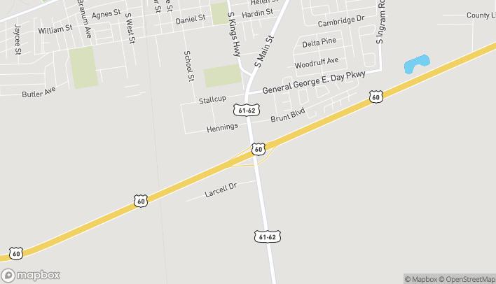 Mapa de 1313 South Main Street en Sikeston