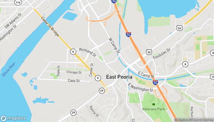 Mapa de 306 W Washington en East Peoria