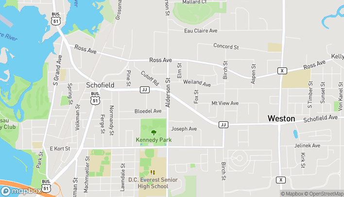 Mapa de 2705 Schofield Ave en Weston