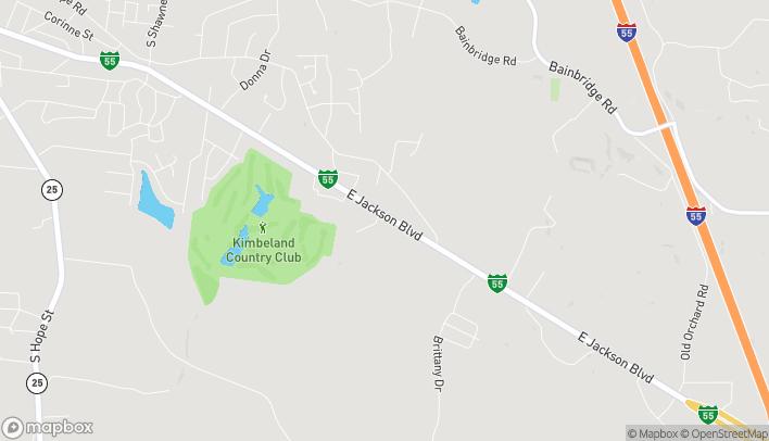 Mapa de 2050 Walton Drive en Jackson