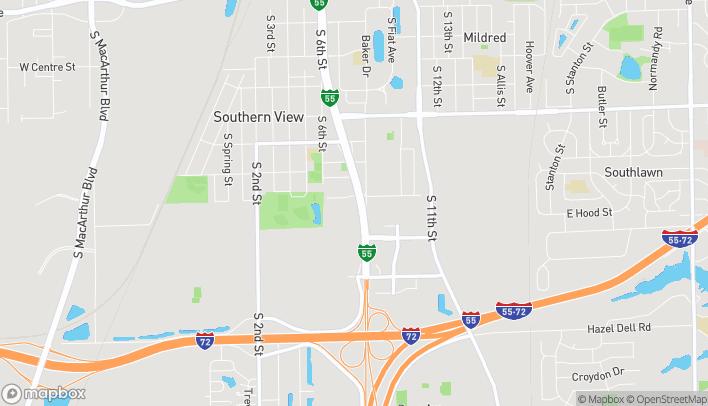 Mapa de 3651 S 6th St Frontage Rd W en Springfield