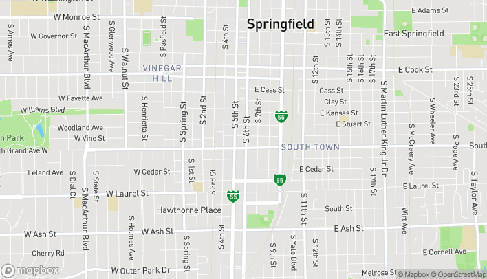 Map of 1311 S 6th St in Springfield