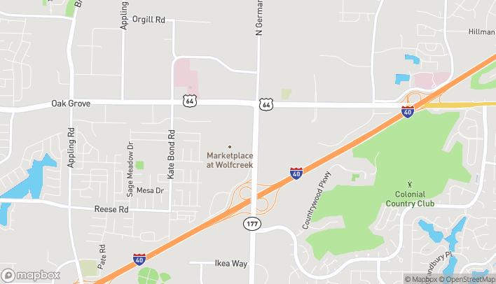 Map of 2760 Germantown Pkwy in Memphis