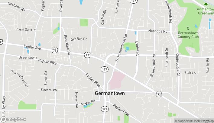 Map of 7564 Poplar Ave in Germantown