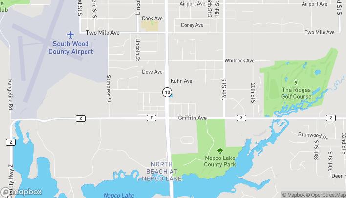 Mapa de 4531 8th St en Wisconsin Rapids