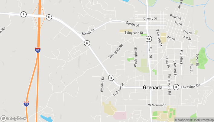 Map of 1242 Sunset Drive in Grenada