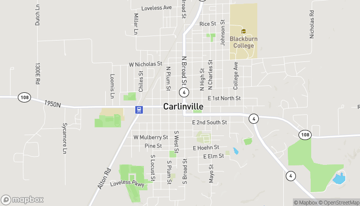 Map of 504 W Side Square in Carlinville
