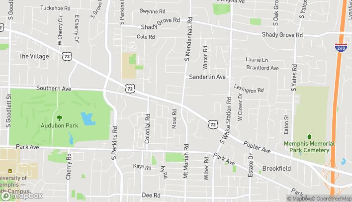 Mapa de 4938 Poplar Ave en Memphis