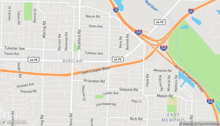 Mapa de 4899 Summer Avenue en Memphis