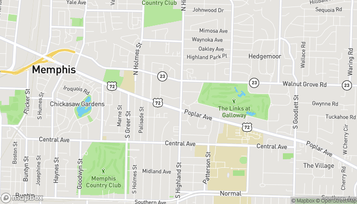 Mapa de 109 S Highland St en Memphis