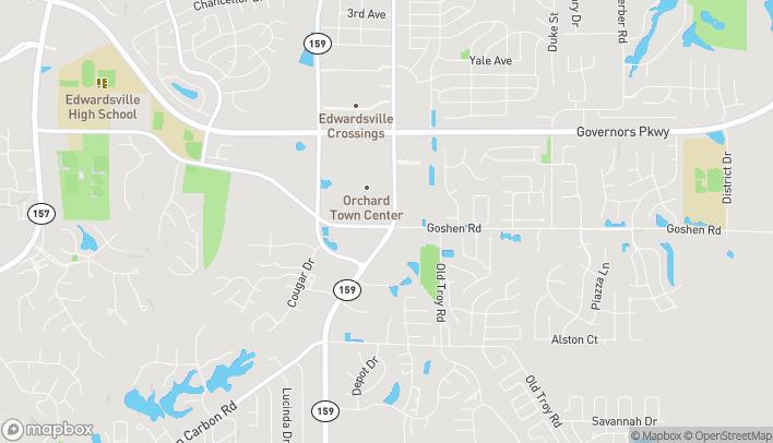 Mapa de 6697 Center Grove Road en Edwardsville