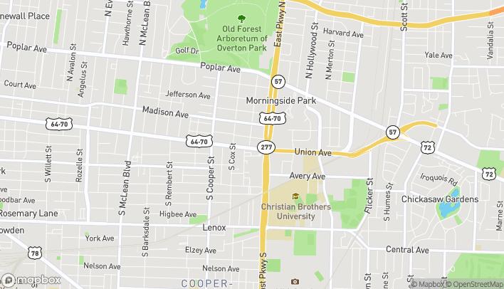 Mapa de 2282 Union Ave en Memphis