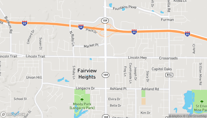 Map of 6403 N Illinois St in Fairview Heights