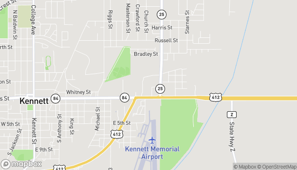 Map of 1742 1st St in Kennett