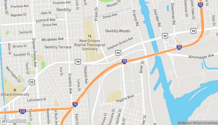 Mapa de 4221 Old Gentilly Rd en New Orleans