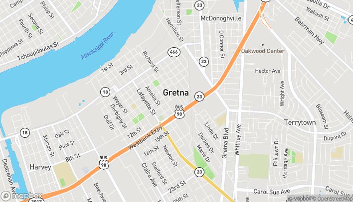 Mapa de 197 Westbank Expy en Gretna