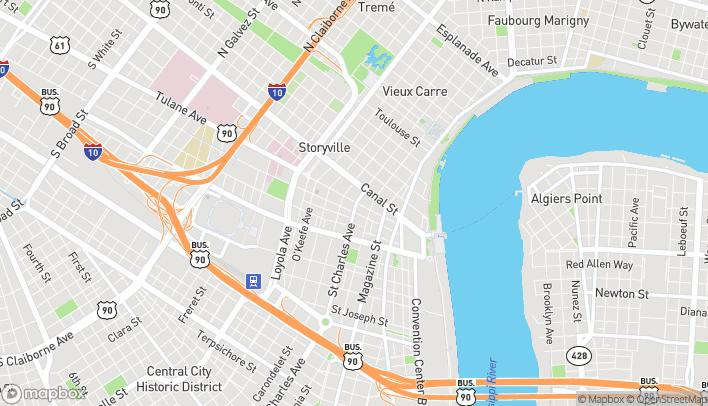 Mapa de 201 St Charles Ave en New Orleans