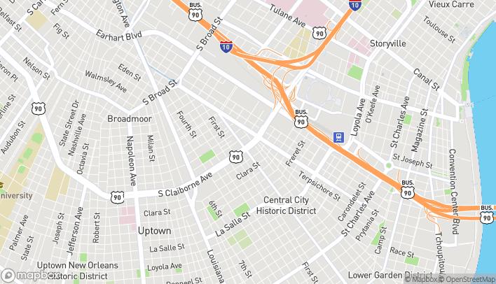 Mapa de 2101 S Claiborne Ave en New Orleans
