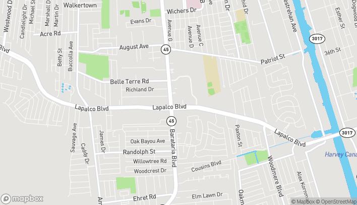 Mapa de 4964 Lapalco Blvd en Marrero