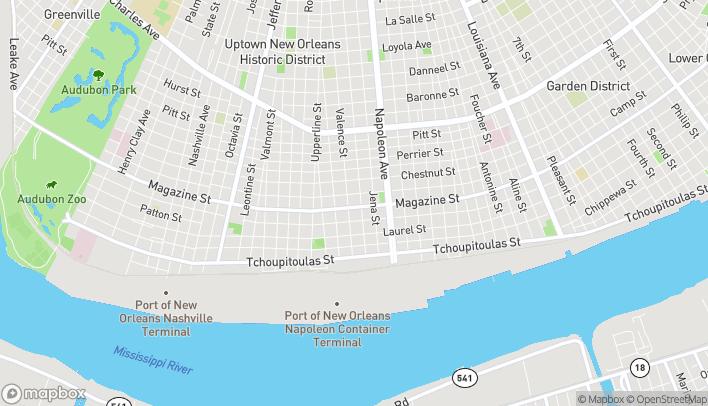 Mapa de 4637 Magazine St en New Orleans
