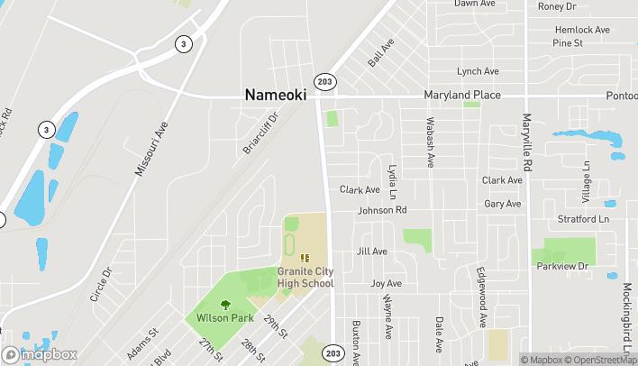 Mapa de 3453 Nameoki Rd en Granite City