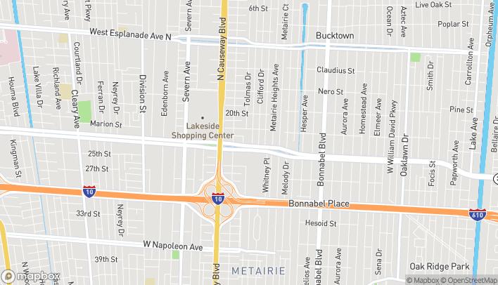Map of 2937 Veterans Memorial Blvd in Metairie