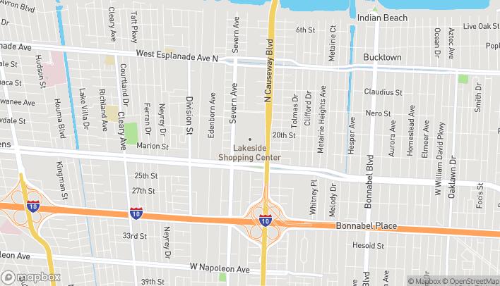 Map of 3301 Veterans Memorial Blvd in Metairie