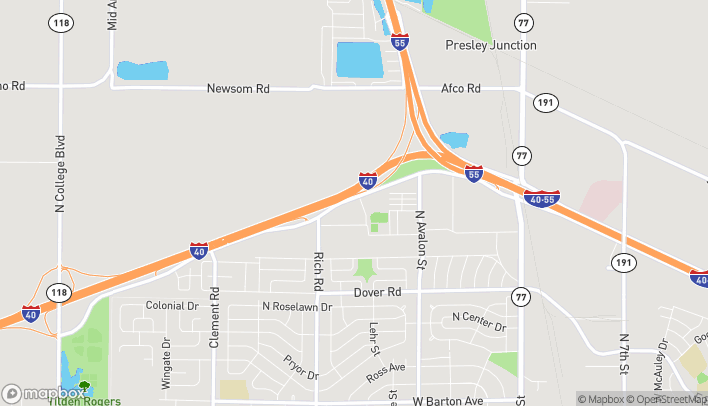 Map of 650 West Service Road in West Memphis