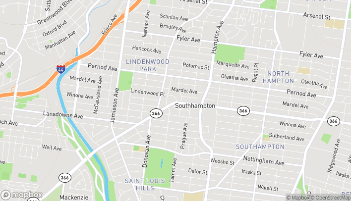 Map of 6411 Chippewa Street in St. Louis