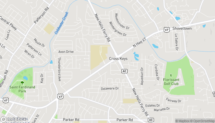 Map of 2875 North US Highway 67 in Florissant
