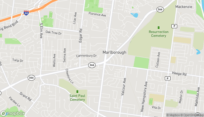 Map of 1269 S Laclede Station Rd in Saint Louis