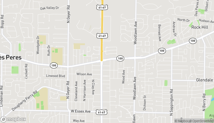 Map of 10700 Manchester Rd in Saint Louis