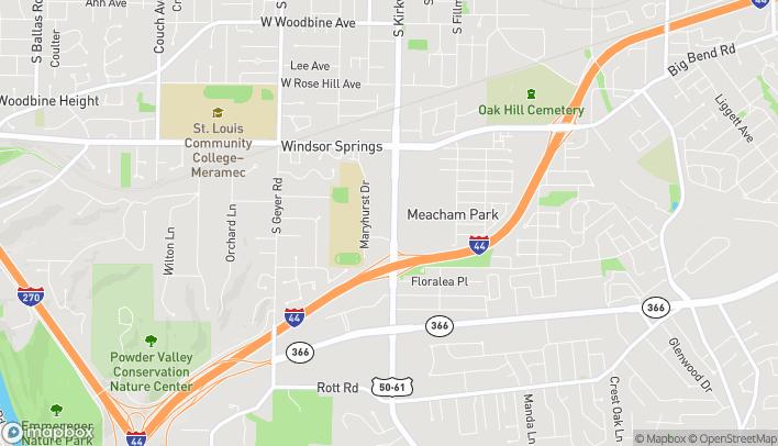 Mapa de 1263 S Kirkwood Rd en Kirkwood