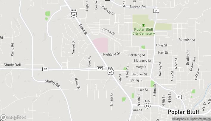 Mapa de 1210 North Westwood Blvd en Poplar Bluff