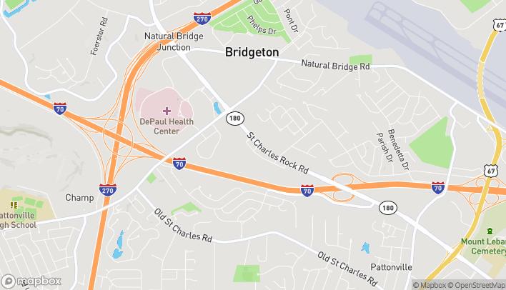 Mapa de 11990 St Charles Rock Rd en Bridgeton