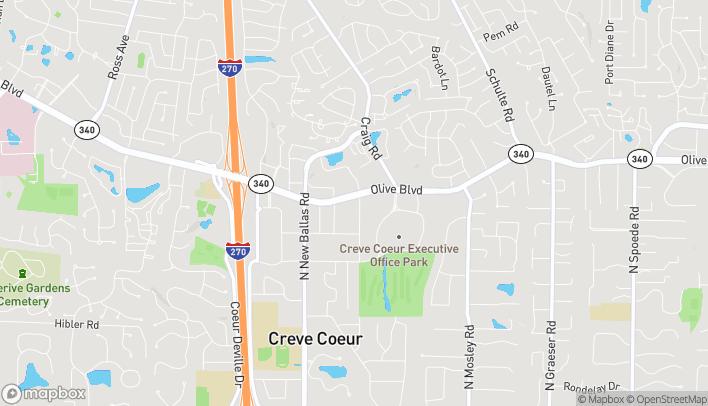 Mapa de 11600 Olive Blvd en Creve Coeur