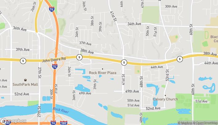 Mapa de 3937 41st Ave Dr en Moline