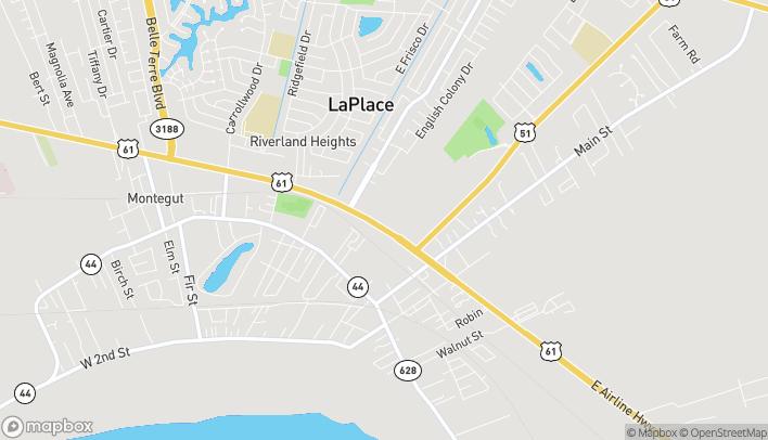 Mapa de 400 W. Airline Highway en La Place
