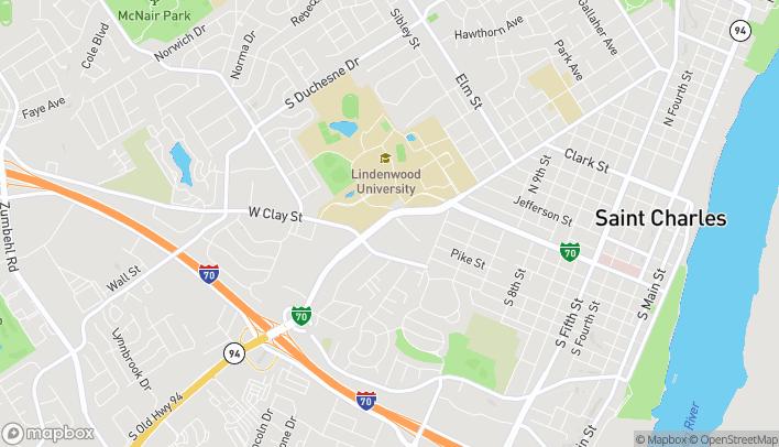 Mapa de 1990 1st Capitol Dr en Saint Charles