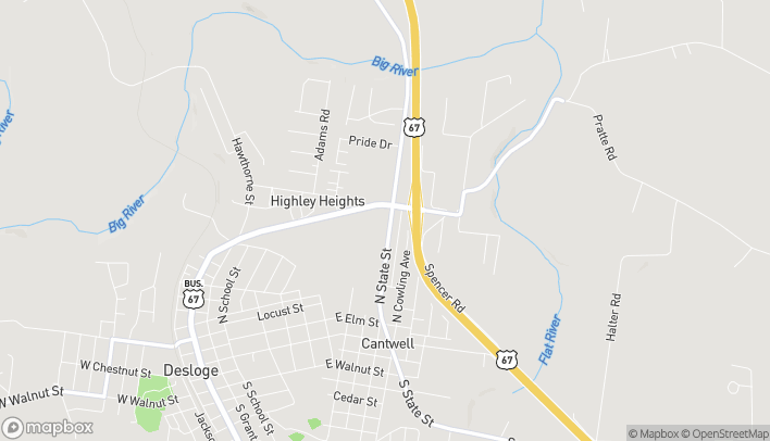 Mapa de 1146 N Desloge Drive en Desloge