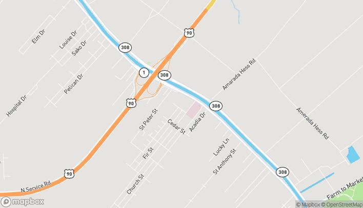 Mapa de 4560 Hwy 1 en Raceland