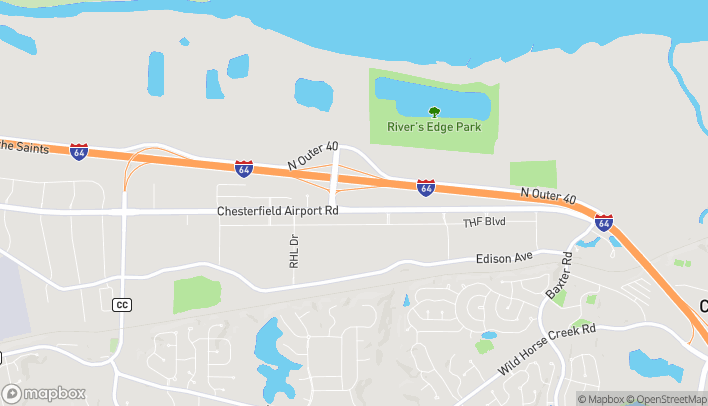 Map of 17253 Chesterfield Airport Rd in Chesterfield