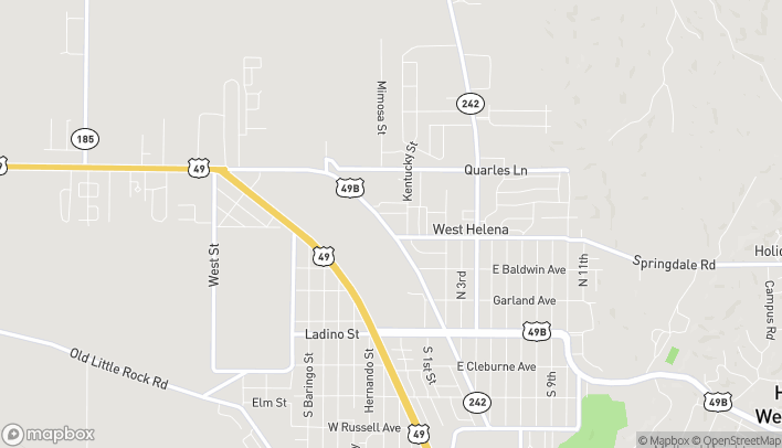 Map of 426 N Sebastian in West Helena
