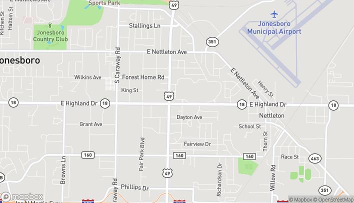 Map of 3006 E Highland in Jonesboro