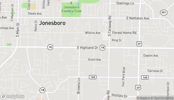 Map of 1841 E. Highland Drive in Jonesboro