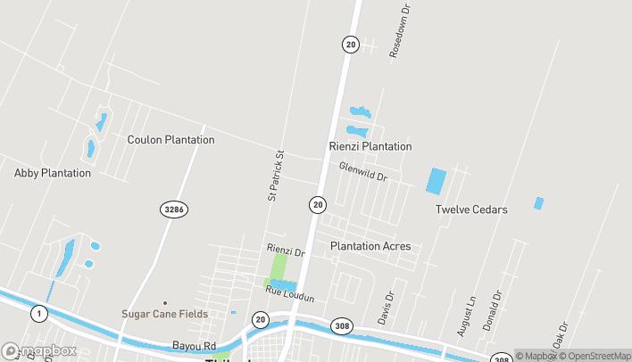 Mapa de 606 North Canal Blvd en Thibodaux